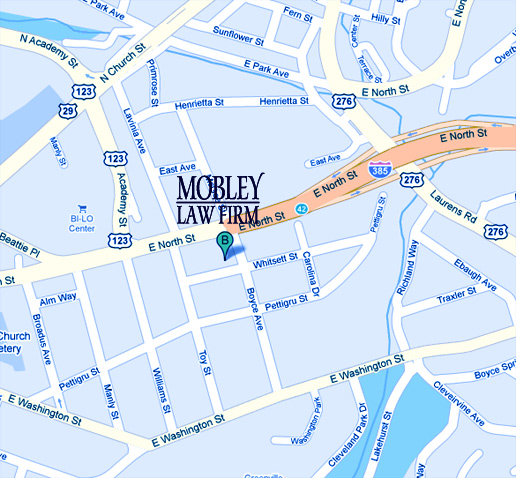 Map to Mobley Law Firm